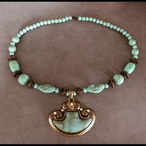Gorgeous light turquoise statement necklace